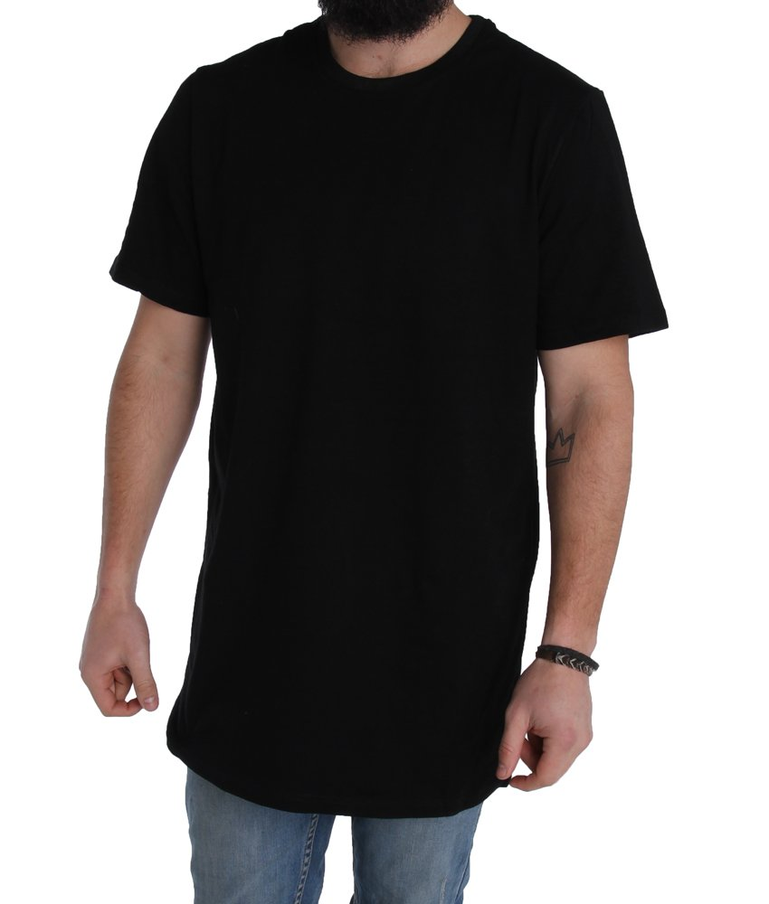 Basic tall tee extra long mens longline tees shirt t shirt for 100 cotton t shirts shrink